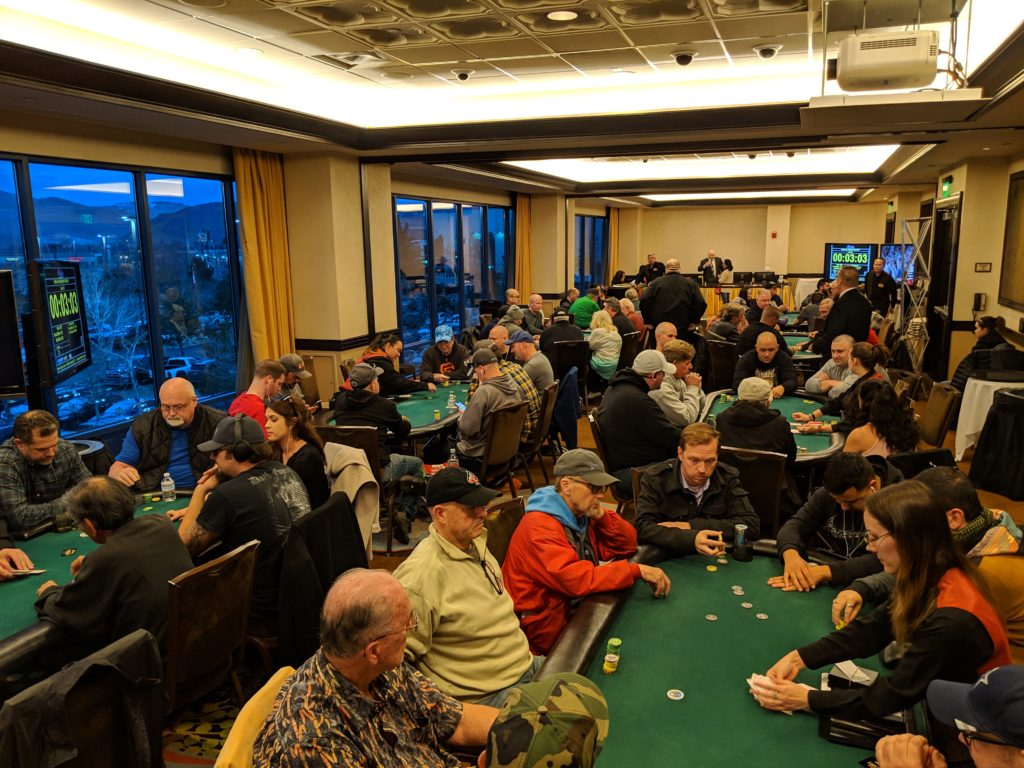 Poker Players in a tournament