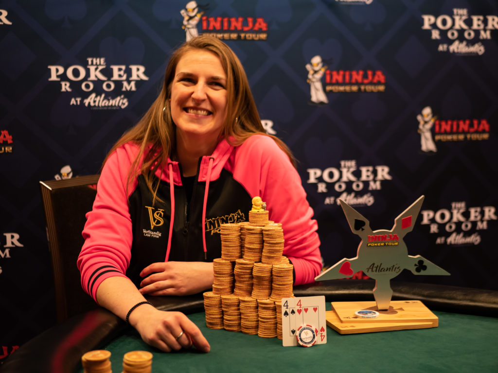 Molly Mossey wins ininja poker event at Atlantis in Reno Nevada!